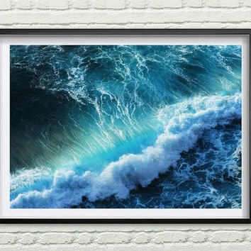 Abstract Ocean Wall Art Pertaining To Best And Newest Best Abstract Ocean Art Products On Wanelo (View 10 of 15)