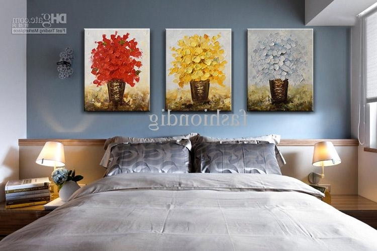 Abstract Office Wall Art With Most Current 2018 Modern Flower Oil Painting Canvas Thick Oil Abstract Handmade (View 14 of 15)