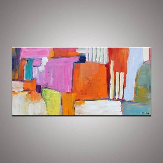 Abstract Painting, Contemporary Art, Abstract Canvas Art, Large Oil Within Most Up To Date Original Abstract Wall Art (Gallery 12 of 15)