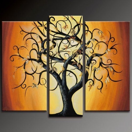 Abstract Paintings Of Trees Decorative Abstract Tree Oil Painting Throughout Trendy Painted Trees Wall Art (View 13 of 15)