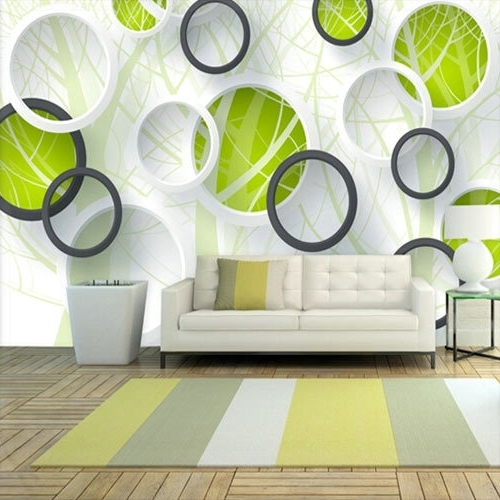 Abstract Photo Murals 3D Wallpaper Vinyl Wall Paper Tv Sofa Living With Regard To Most Popular 3D Wall Panels Wall Art (View 12 of 15)