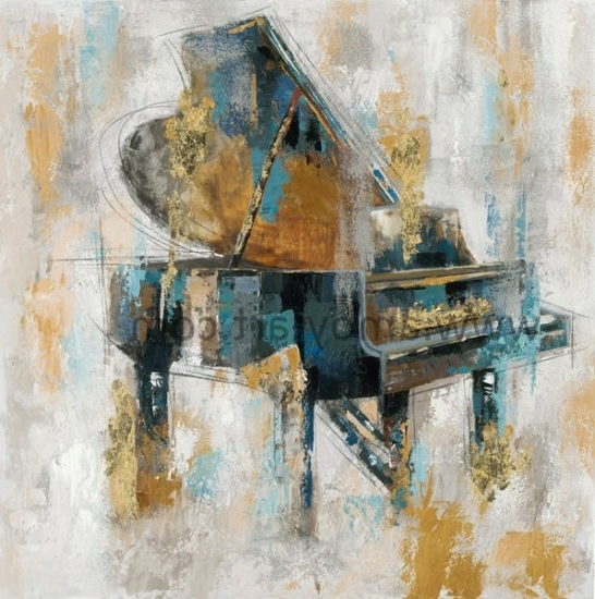 Abstract Piano Wall Art In Fashionable China Abstract Piano Oil Paintings Handmade On Canvas For Wall Decor (View 6 of 15)