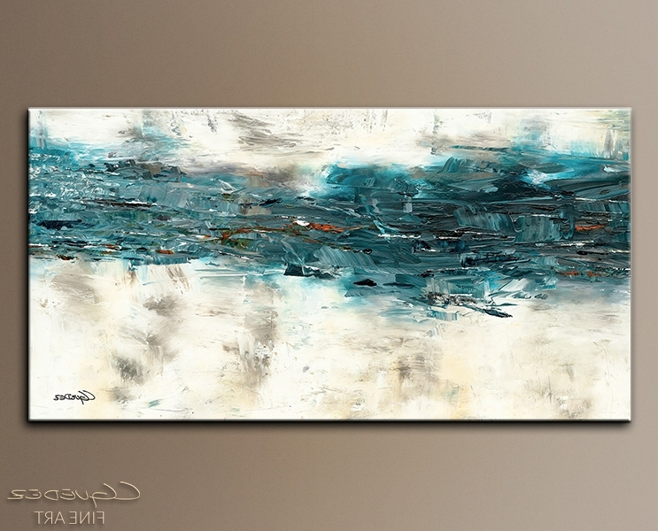 Abstract Wall Art Canada Pertaining To Trendy Fascinating Abstract Canvas Art In Large Painting High Tide Oversize (View 7 of 15)