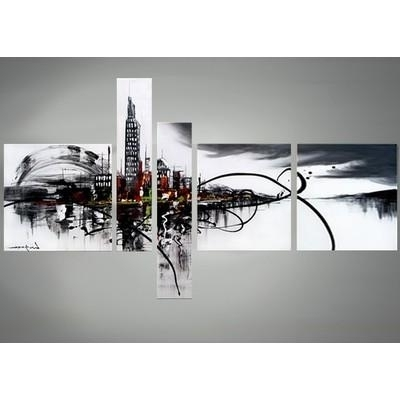 Abstract Wall Art Canada regarding Well-liked Cityscape Canvas Art Black And White Abstract Wall Decor X In With