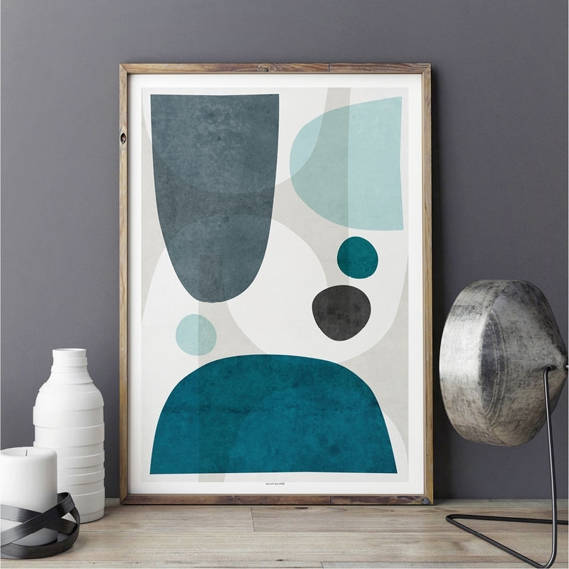 Abstract Wall Art Living Room Pertaining To Newest Blue Abstract Wall Art – Living Room Art Blue – Large Abstract Wall (View 6 of 15)
