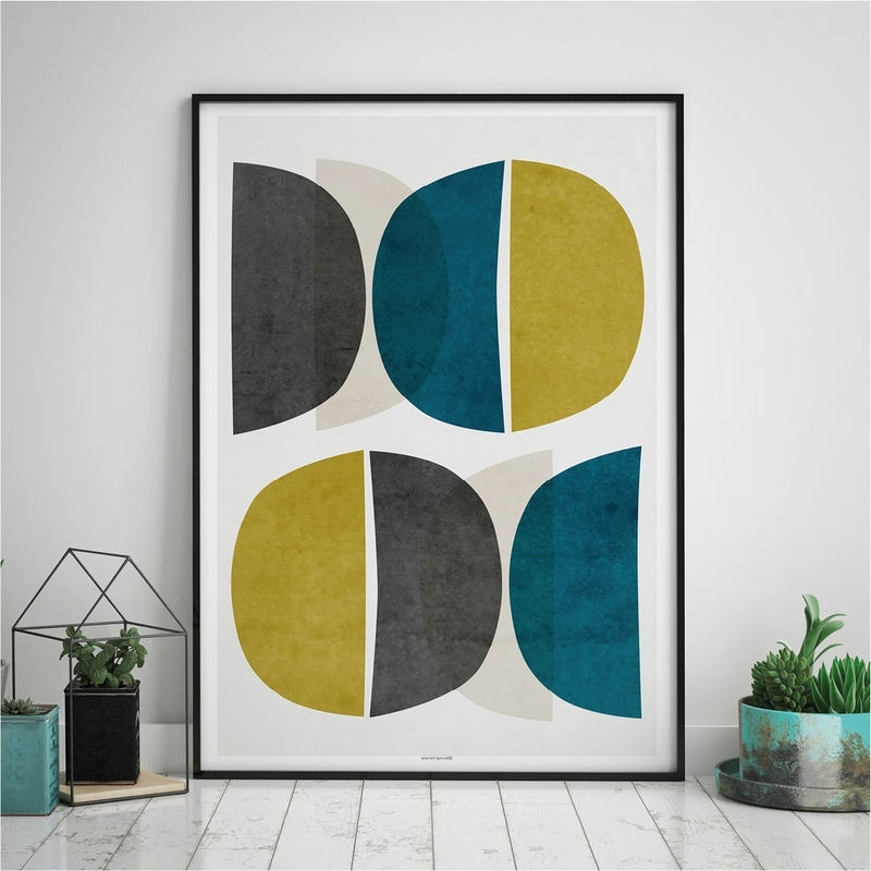 Abstract Wall Art Prints Inside Current Abstract Wall Art – Modern Art Prints – Minimalist Print – Yellow (View 3 of 15)