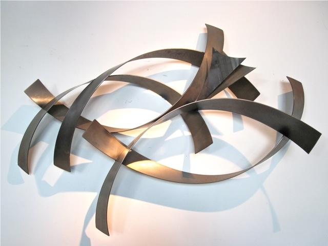 Adorable Metal Wall Art Decor Sculptures Ideas With Regard To 19 Inside Most Popular Abstract Metal Sculpture Wall Art (View 5 of 15)