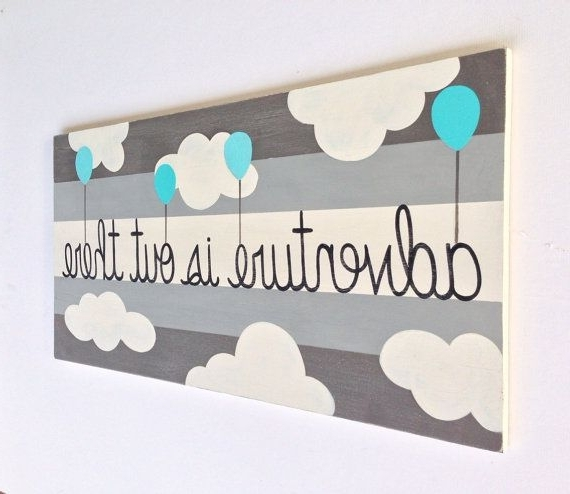 Adventure Is Out There – Adventure Nursery Decor – Nursery Sign In Newest Nursery Canvas Art (Gallery 8 of 15)