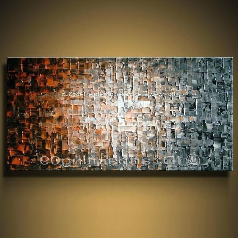 Affordable Abstract Wall Art Within Preferred Abstract Wall Art Cheap Shop Paintings Online Hand Painted Unframed (View 8 of 15)