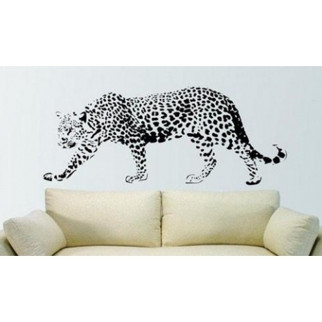 African Animal – Leopard Vinyl Wall Art Inside Well Liked Animal Wall Art (Gallery 9 of 15)