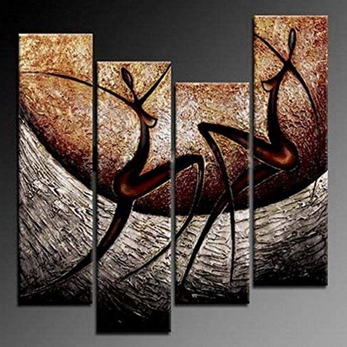 African Canvas Wall Art: Amazon Within Well Known African Metal Wall Art (View 1 of 15)