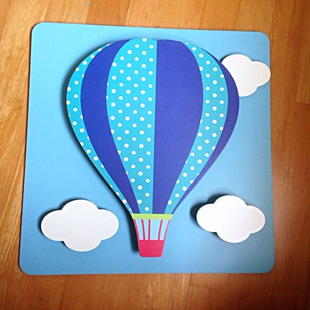 Air Balloon 3D Wall Art With Newest Hot Air Balloon 3D Wall Art, Home & Furniture On Carousell (View 4 of 15)