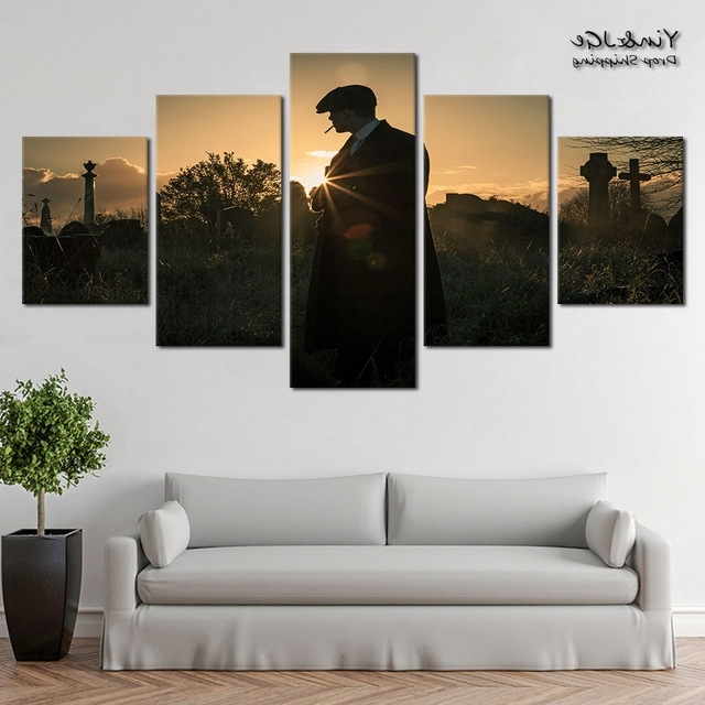 Aliexpress : Buy Modular Canvas Painting Wall Art 5 Pieces Peaky With Regard To Most Up To Date Modular Wall Art (Gallery 7 of 15)