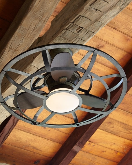 Alsace Outdoor Cage Ceiling Fan (View 3 of 15)