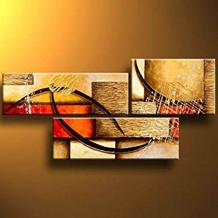 [%Amazon: 3 Pics Modern Abstract 100% Hand Painted Oil Paintings Intended For Newest Modern Abstract Oil Painting Wall Art|Modern Abstract Oil Painting Wall Art With Well Known Amazon: 3 Pics Modern Abstract 100% Hand Painted Oil Paintings|2018 Modern Abstract Oil Painting Wall Art In Amazon: 3 Pics Modern Abstract 100% Hand Painted Oil Paintings|Well Known Amazon: 3 Pics Modern Abstract 100% Hand Painted Oil Paintings Intended For Modern Abstract Oil Painting Wall Art%] (View 1 of 15)