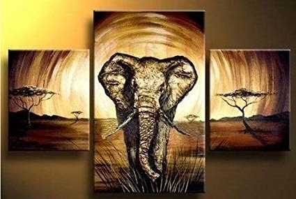Amazon: 3Pc Modern Abstract Huge Wall Art Oil Painting On Canvas Inside Trendy Modern Abstract Huge Oil Painting Wall Art (View 15 of 15)
