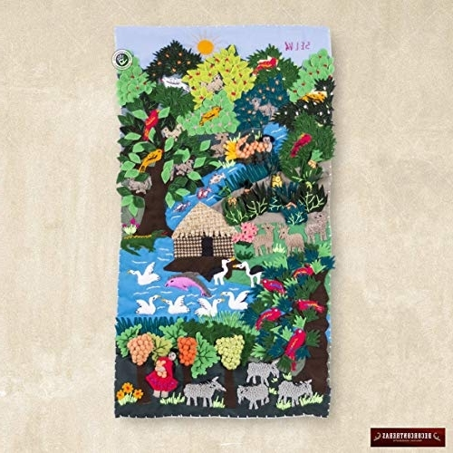 Amazon: Applique Arpilleria Wall Hanging (View 3 of 15)