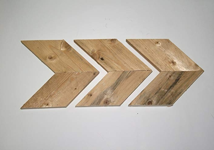 Amazon: Arrows, Rustic Raw Natural Wooden Pallet Arrow Throughout 2018 Natural Wood Wall Art (View 14 of 15)