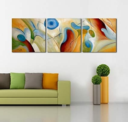 [%Amazon: Artland Modern 100% Hand Painted Abstract Oil Painting With Regard To Most Current 3 Piece Abstract Wall Art|3 Piece Abstract Wall Art Intended For Widely Used Amazon: Artland Modern 100% Hand Painted Abstract Oil Painting|Preferred 3 Piece Abstract Wall Art Inside Amazon: Artland Modern 100% Hand Painted Abstract Oil Painting|Well Known Amazon: Artland Modern 100% Hand Painted Abstract Oil Painting Pertaining To 3 Piece Abstract Wall Art%] (View 14 of 15)
