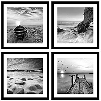 Amazon: Black White And Red Wall Art Print Posters Eiffel Tower Throughout Latest Black And White Framed Wall Art (Gallery 2 of 15)
