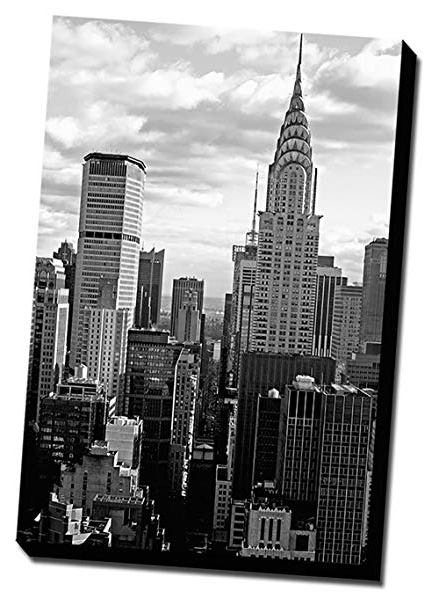 Amazon: Black & White New York City Canvas Wall Art 24X36 Within Latest Black And White New York Canvas Wall Art (Gallery 6 of 15)