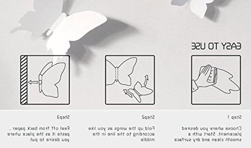 Amazon: Blaydessales: Butterfly Wall Art (Pack Of 24) White In Popular Diy 3D Wall Art Butterflies (View 6 of 15)