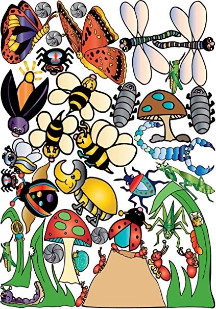 Amazon: Bugs And Insect Wall Stickers Decals: Home & Kitchen For Most Current Insect Wall Art (View 3 of 15)