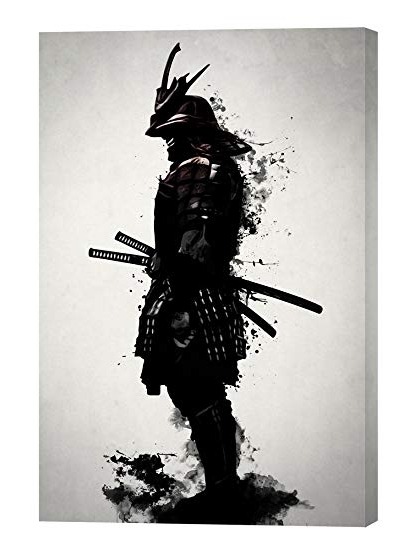Amazon: Cortesi Home Armored Samurainicklas Gustafsson Intended For Famous Samurai Wall Art (View 2 of 15)