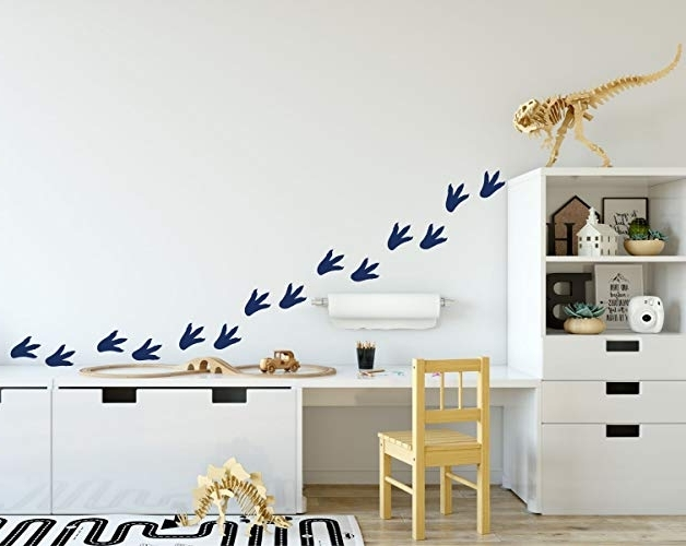 Amazon: Dinosaur Footprints Wall Decals – Wall Decoration For Throughout Popular Preschool Classroom Wall Decals (View 15 of 15)