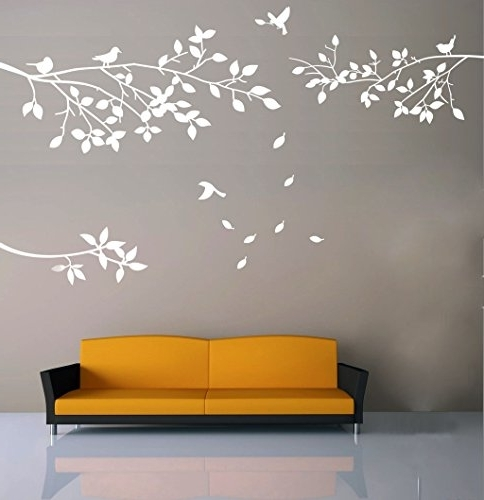 Amazon: Elegant Tree And Birds Wall Decal Art Branch Wall Regarding Popular Tree Branch Wall Art (View 3 of 15)