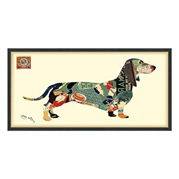 "Amazon: Empire Art Direct ""dachshund"" Dimensional Art Collage For Well Known Dachshund Wall Art (Gallery 4 of 15)"