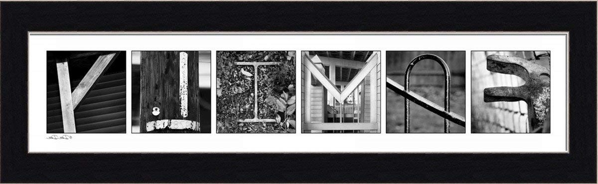Amazon: Familydee Dee Architectural Letters Sign 19.5X5.5 In Regarding Most Recently Released Last Name Framed Wall Art (Gallery 14 of 15)