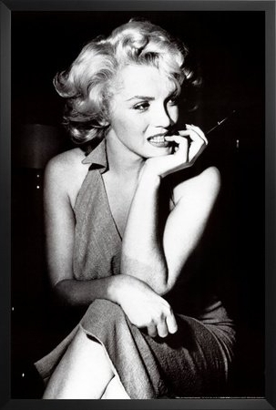 Amazon: Framed Marilyn Monroe – Sitting 36X24 Photograph Art Inside Recent Marilyn Monroe Framed Wall Art (View 1 of 15)