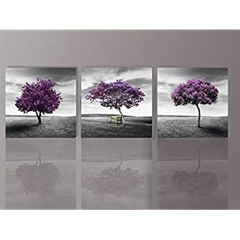Amazon: Hua Dao Art Wsa0910 Canvas Prints Purple Tree Framed With Favorite Purple Canvas Wall Art (View 6 of 15)