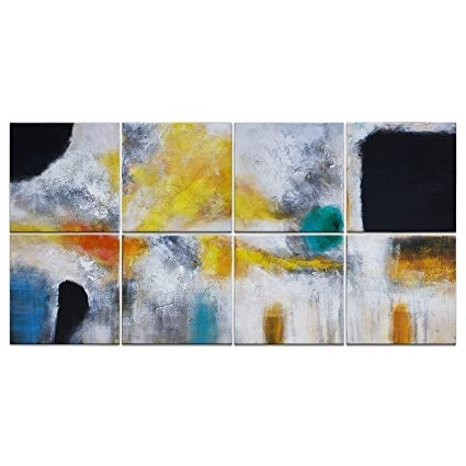 Amazon: Iarts Abstract Canvas Wall Art Acrylic Oil Paintings In Favorite Acrylic Abstract Wall Art (View 6 of 15)