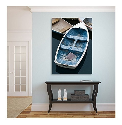 Amazon: Large Canvas Wall Art, Beach Decor, Canvas Gallery Wrap Regarding Most Recently Released Nautical Canvas Wall Art (View 2 of 15)
