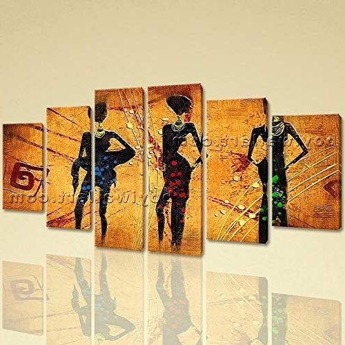 Amazon: Large Vintage African Ethnic Abstract Canvas Art Dining With Regard To Fashionable Abstract Wall Art For Dining Room (View 7 of 15)