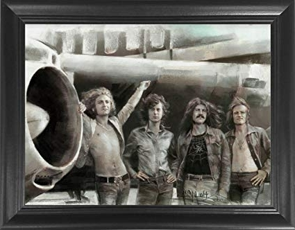 Amazon: Led Zeppelin Classic Rock Band Framed 3D Lenticular Pertaining To 2018 Led Zeppelin 3D Wall Art (View 2 of 15)