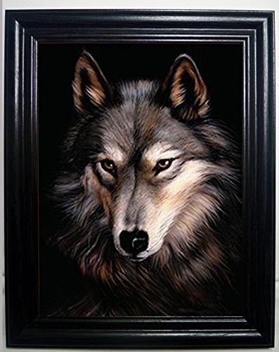 Amazon: Lone Wolf 3D Framed Wall Art— Lenticular Technology Within Most Current Wolf 3D Wall Art (View 1 of 15)