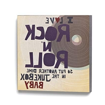 Amazon: Lyricology I Love Rock N' Roll Wall Art: Home & Kitchen Regarding Widely Used Lyricology Wall Art (Gallery 10 of 15)