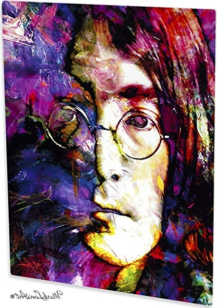 Amazon: Mark Lewis Art John Lennon Artwork Abstract Modern Intended For Well Liked John Lewis Abstract Wall Art (View 10 of 15)