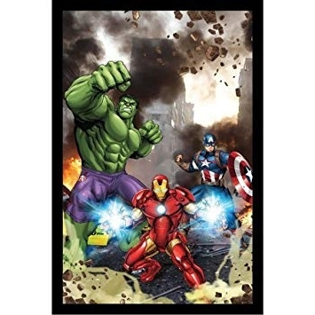 Amazon : Marvel Avengers Assemble Framed 3D Wall Art : Baby Within Most Popular Marvel 3D Wall Art (View 1 of 15)