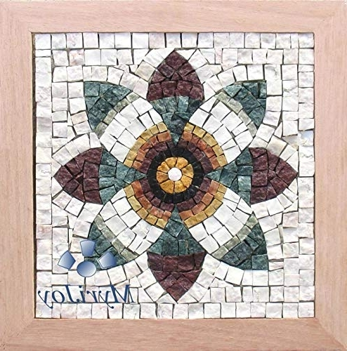 Amazon: Mosaics Kit Diy : Pomegranate Flower/original Gift Idea For Well Known Mosaic Wall Art Kits (View 11 of 15)