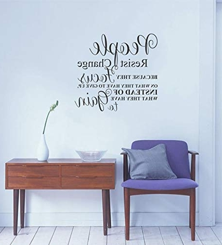 Amazon: Motivational Wall Decal Quote For Home, Bedroom, Office Pertaining To Current Large Inspirational Wall Art (View 9 of 15)