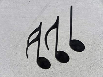 Amazon: Music Notes 3 Piece Set Metal Wall Art Home Decor: Home In Well Known Metal Music Notes Wall Art (View 13 of 15)