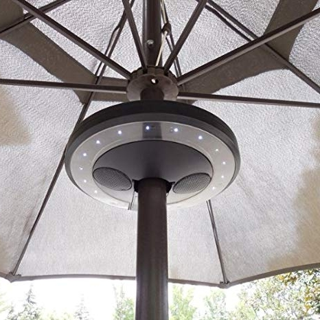 Amazon : Patio Umbrella Bluetooth Speaker With Led Lights Throughout Well Known Outdoor Ceiling Fan With Bluetooth Speaker (View 9 of 15)