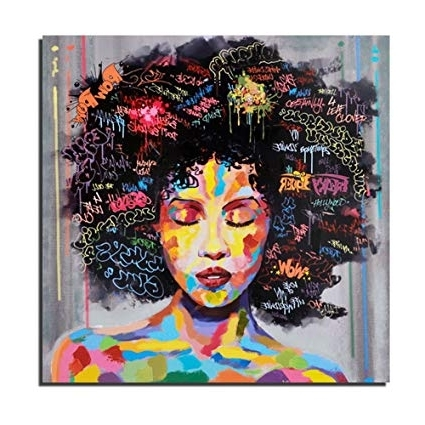 Amazon: Pinetree Art African American Black Art Wall Decor Regarding Fashionable African American Wall Art And Decor (View 8 of 15)