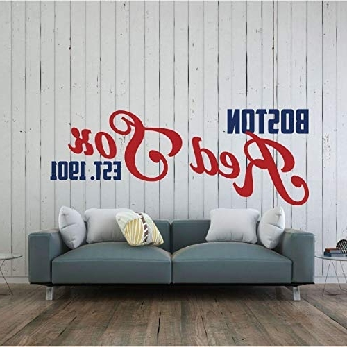 Amazon: Red Sox Wall Decal – Boston Baseball Decorations Throughout Favorite Red Sox Wall Decals (View 3 of 15)