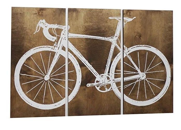 Amazon: Road Bike / Street Bike Wall Art / Bicycle Screen Print With Preferred Bike Wall Art (Gallery 9 of 15)