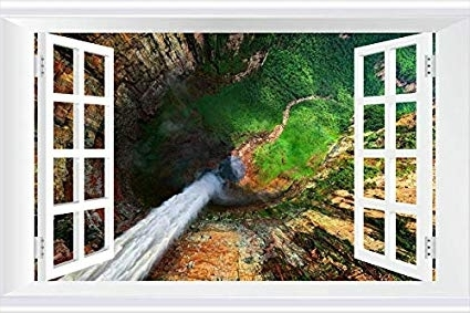 Amazon: Shobrilf Angel Falls, Venezuela – Nature – #15738 – Art Throughout Famous Venezuela Wall Art 3D (View 1 of 15)